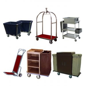 LUGGAGE TROLLEYS & HOUSEKEEPING CARTS