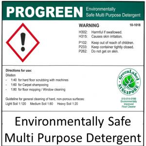 PROGREEN ENVIRONMENTALLY SAFE CLEANER