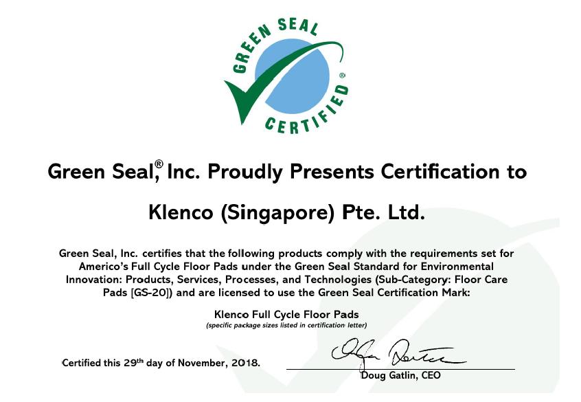 Klenco Americo Floor Pads - Green Seal Cert